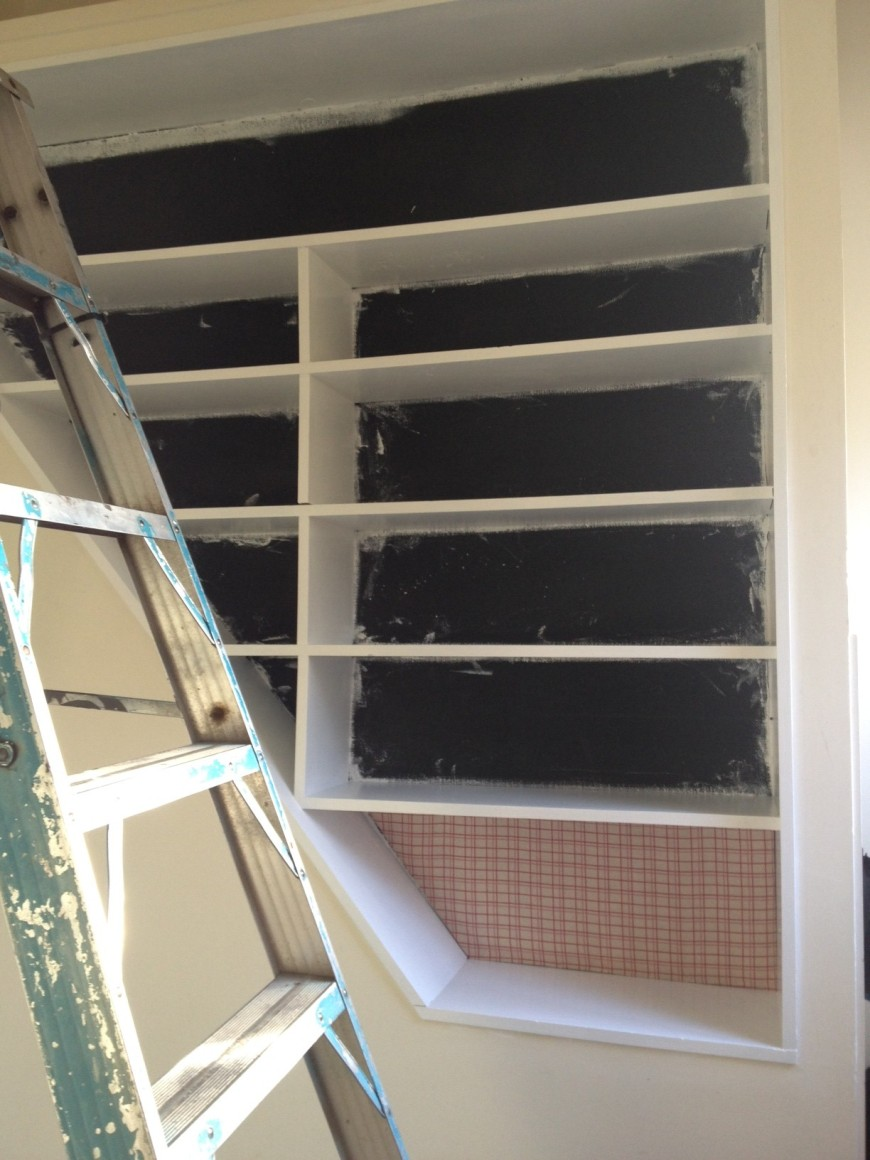 Shelves before (actually mid)