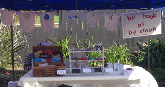 By hook or by crook stall - Devonport Craft Markets