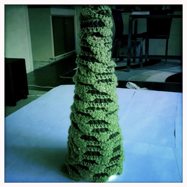 Crocheted Christmas tree - finished product